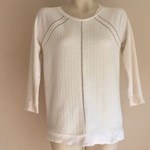 Ann Taylor Sweatshirt small Ivory